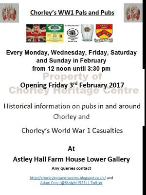 Chorley Pals and Pubs Exhibition at Astley Hall Farmhouse